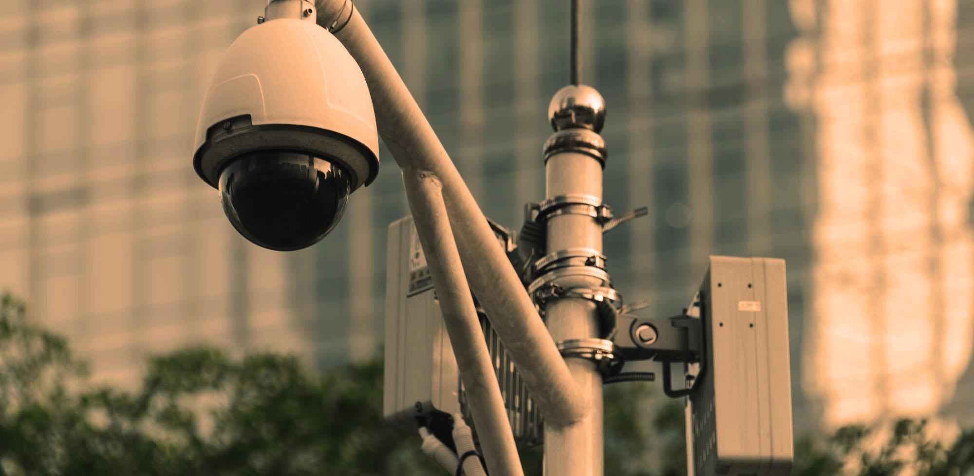 TVCC videocamera di sicurezza in citta