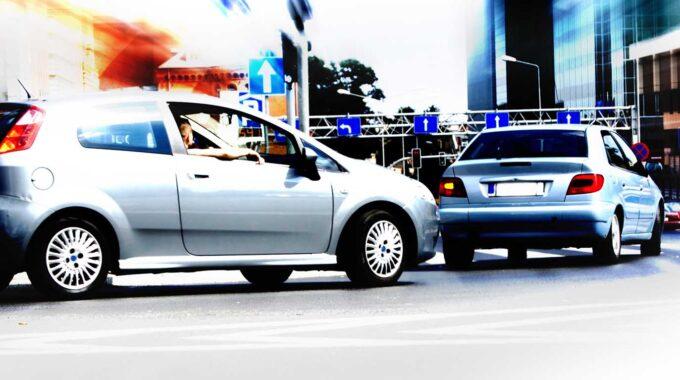 Abstract Big City Rush Hour